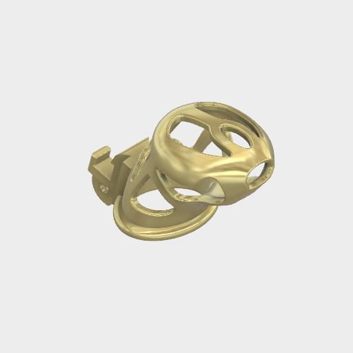 Ghost 14K Gold Cage