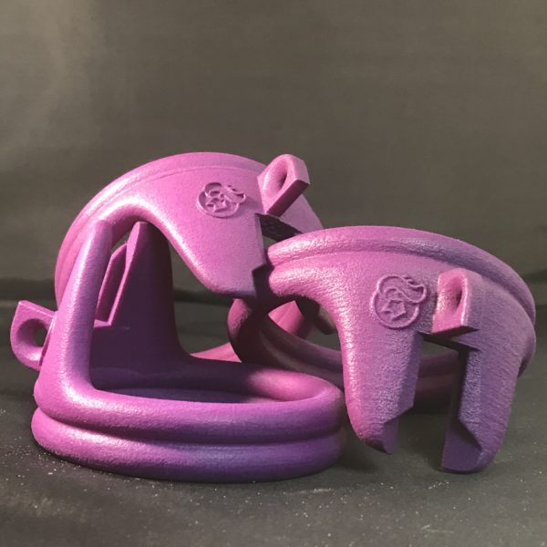 custom chastity 3 double base rings pink