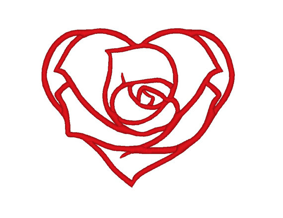 heart rose design idea
